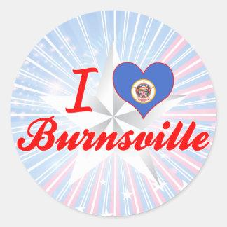Amo Burnsville, Minnesota Etiqueta Redonda