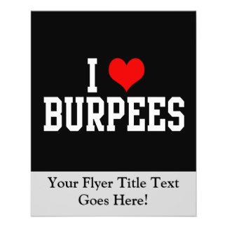"Amo Burpees, aptitud Folleto 4.5"" X 5.6"""