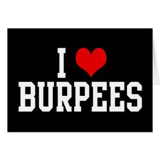 Amo Burpees, aptitud Felicitaciones