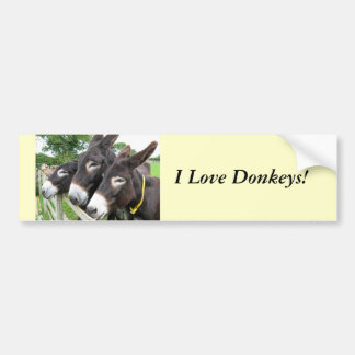 ¡Amo burros! Pegatina Para Auto