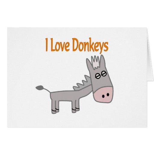 Amo burros felicitación
