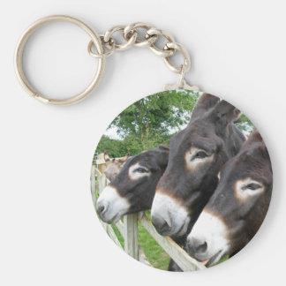 ¡Amo burros! Llavero Redondo Tipo Pin
