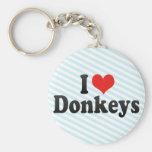 Amo burros llaveros personalizados