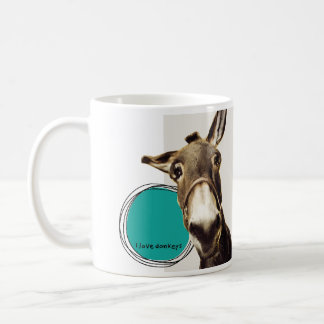 Amo burros taza clásica