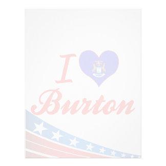 Amo Burton, Michigan Plantilla De Membrete