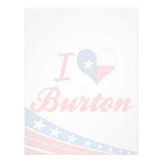 Amo Burton, Tejas Plantillas De Membrete