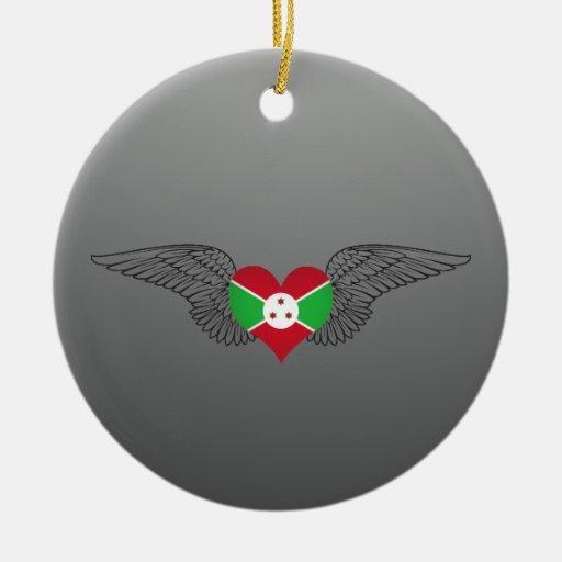 Amo Burundi - alas Adorno De Navidad