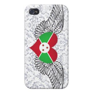 Amo Burundi - alas iPhone 4/4S Carcasas