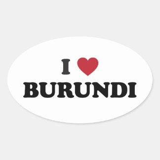 Amo Burundi Pegatina Ovalada