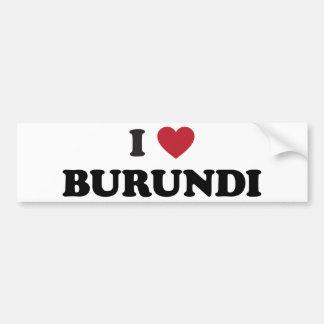 Amo Burundi Pegatina Para Auto