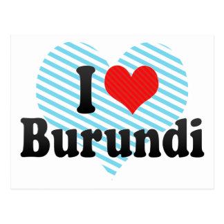 Amo Burundi Tarjeta Postal