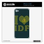 Amo CA - fuerzas de defensa de Israel Calcomanía Para iPhone 4S