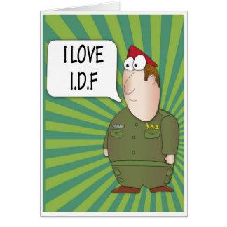 AMO CA - soldado del israelí de la tarjeta de feli
