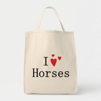 Amo caballos bolsas de mano