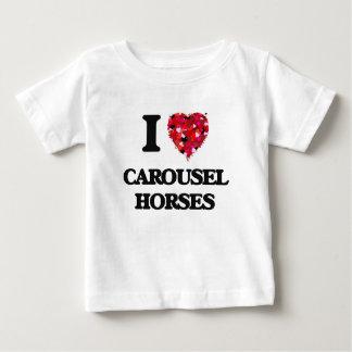 Amo caballos del carrusel playeras