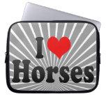 Amo caballos funda computadora