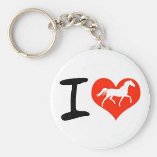 Amo caballos llavero redondo tipo pin