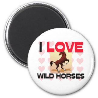 Amo caballos salvajes imanes para frigoríficos
