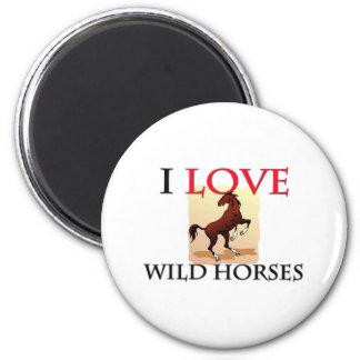 Amo caballos salvajes iman para frigorífico