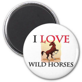 Amo caballos salvajes imán para frigorifico