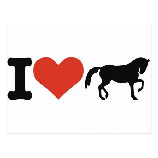 Amo caballos tarjetas postales