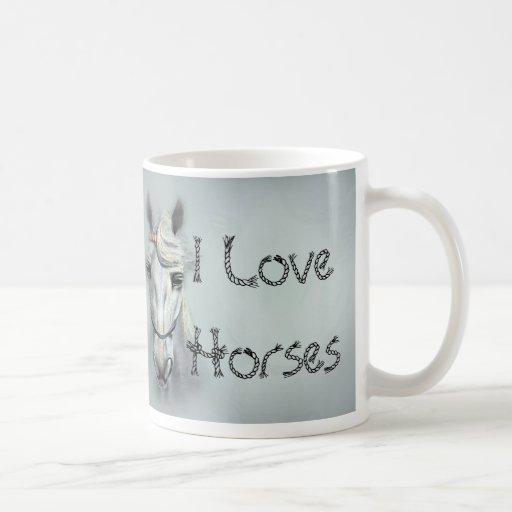 Amo caballos tazas de café
