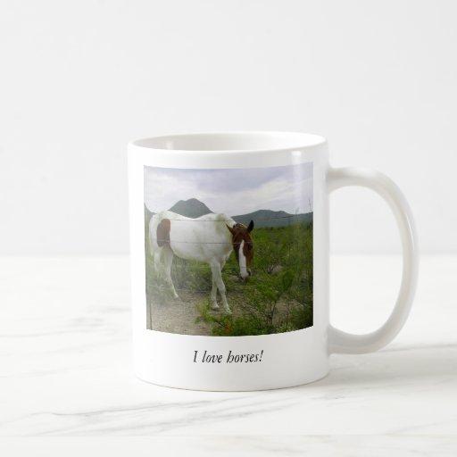 ¡Amo caballos! Tazas
