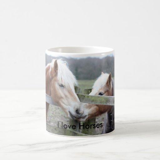 Amo caballos taza de café