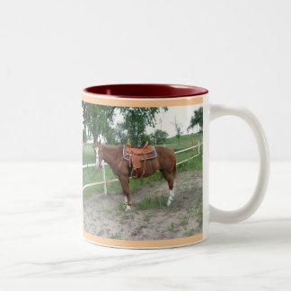 ¡Amo caballos!!! Taza De Dos Tonos