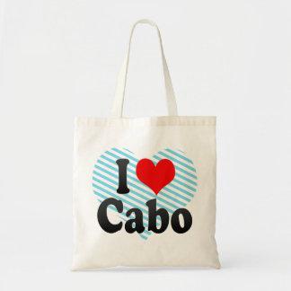 Amo Cabo, el Brasil. Eu Amo O Cabo, el Brasil Bolsas Lienzo