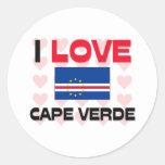 Amo Cabo Verde Etiqueta Redonda