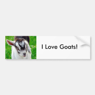 ¡Amo cabras! Pegatina De Parachoque