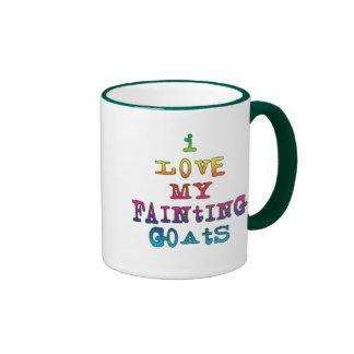 Amo cabras de desfallecimiento tazas de café