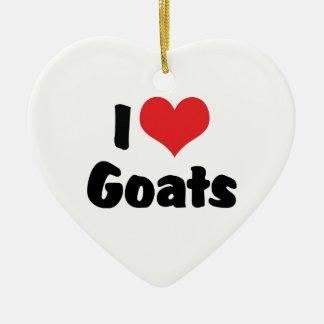 Amo cabras adorno de navidad