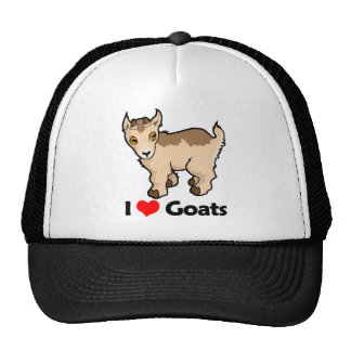 Amo cabras gorros bordados