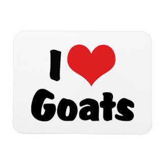 Amo cabras imán foto rectangular