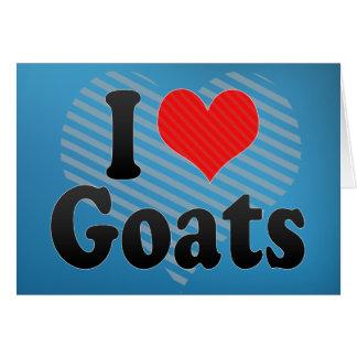 Amo cabras tarjeta de felicitación