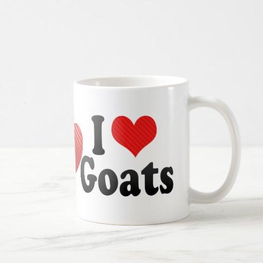 Amo cabras taza básica blanca