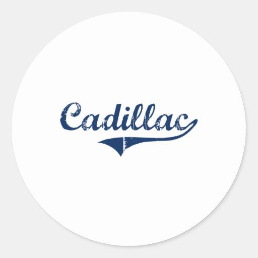 Amo Cadillac Michigan Pegatina