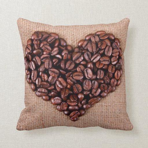 Amo café travesseiros de decoração
