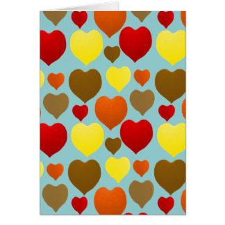 Amo caída tarjeta de felicitación