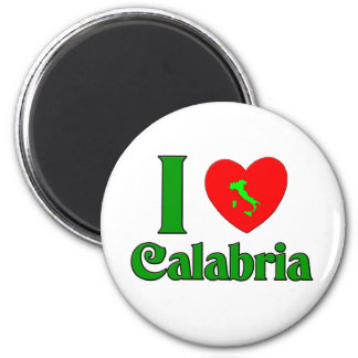 Amo Calabria Italia Imán Redondo 5 Cm
