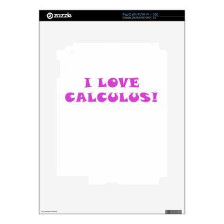 Amo cálculo iPad 2 calcomanías