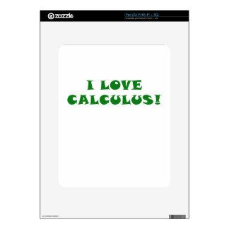 Amo cálculo iPad calcomanía