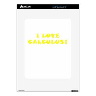 Amo cálculo iPad calcomanías