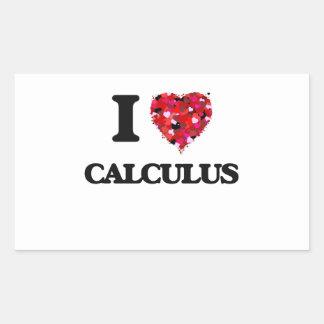 Amo cálculo pegatina rectangular