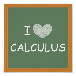 Amo cálculo póster