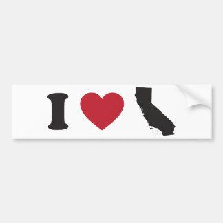 Amo California Pegatina De Parachoque