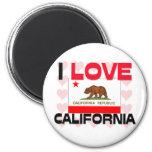 Amo California Imán De Frigorífico