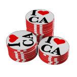 Amo California Juego De Fichas De Póquer